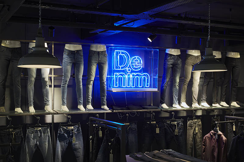 New Look Menswear Jeans Display