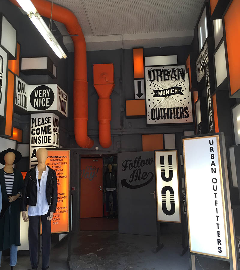 Urban Outfitters Pop Up Store Exterior