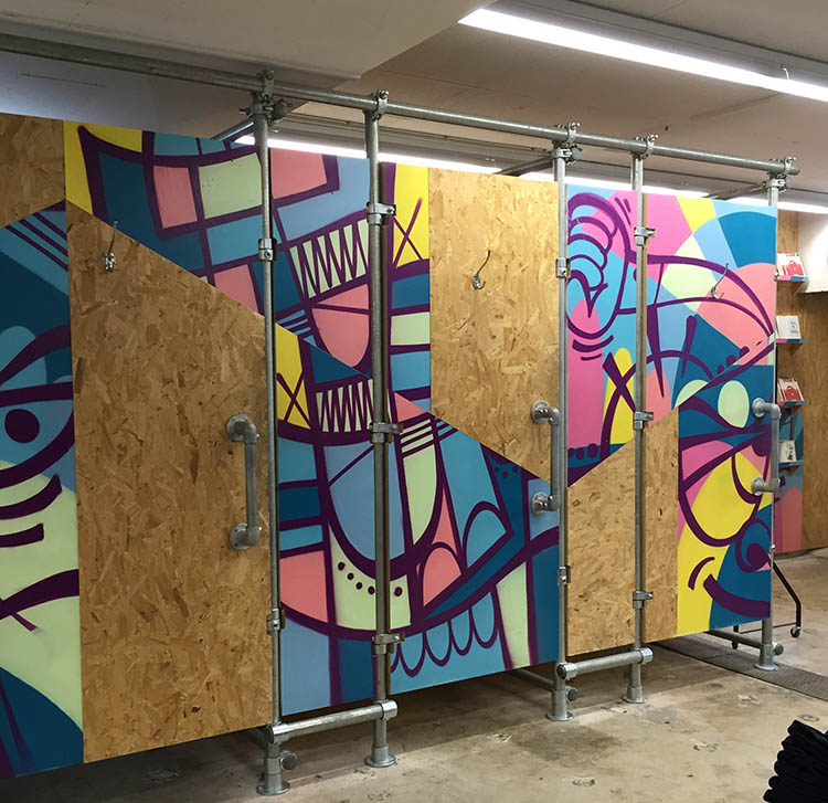 Pop Up Store Changing Rooms