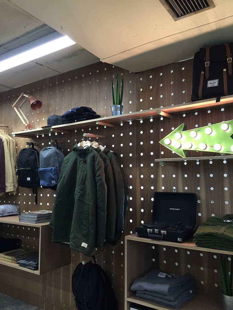 Pop Up Store Interior Peg Board