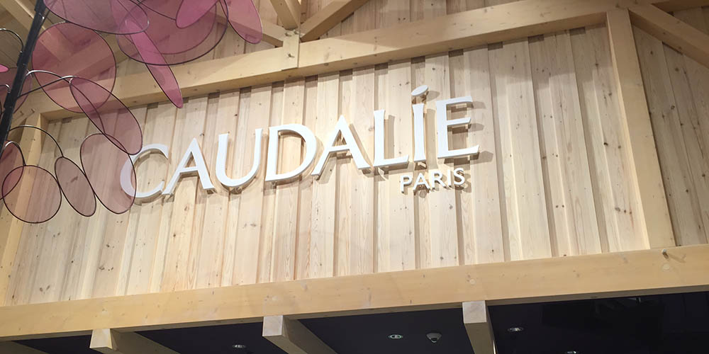 Caudalie paris store sign