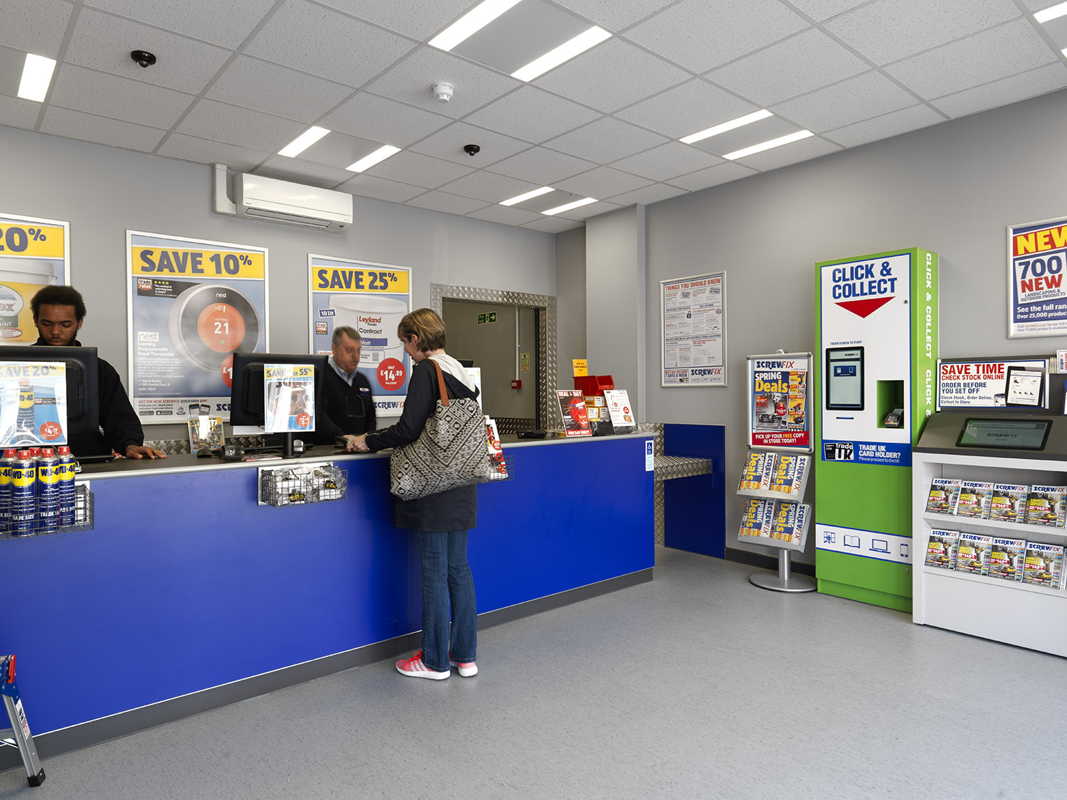 Screwfix City Store Counter