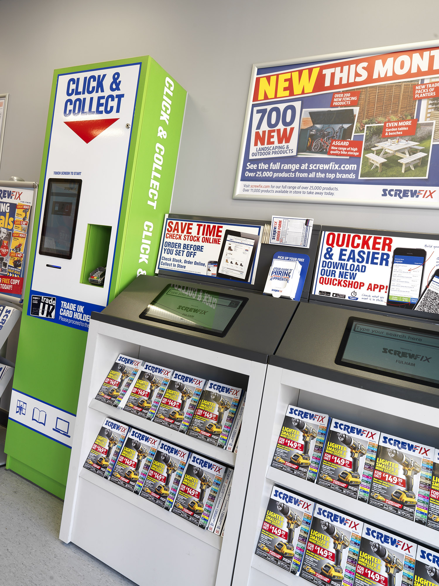 Screwfix City Store Retail Interior