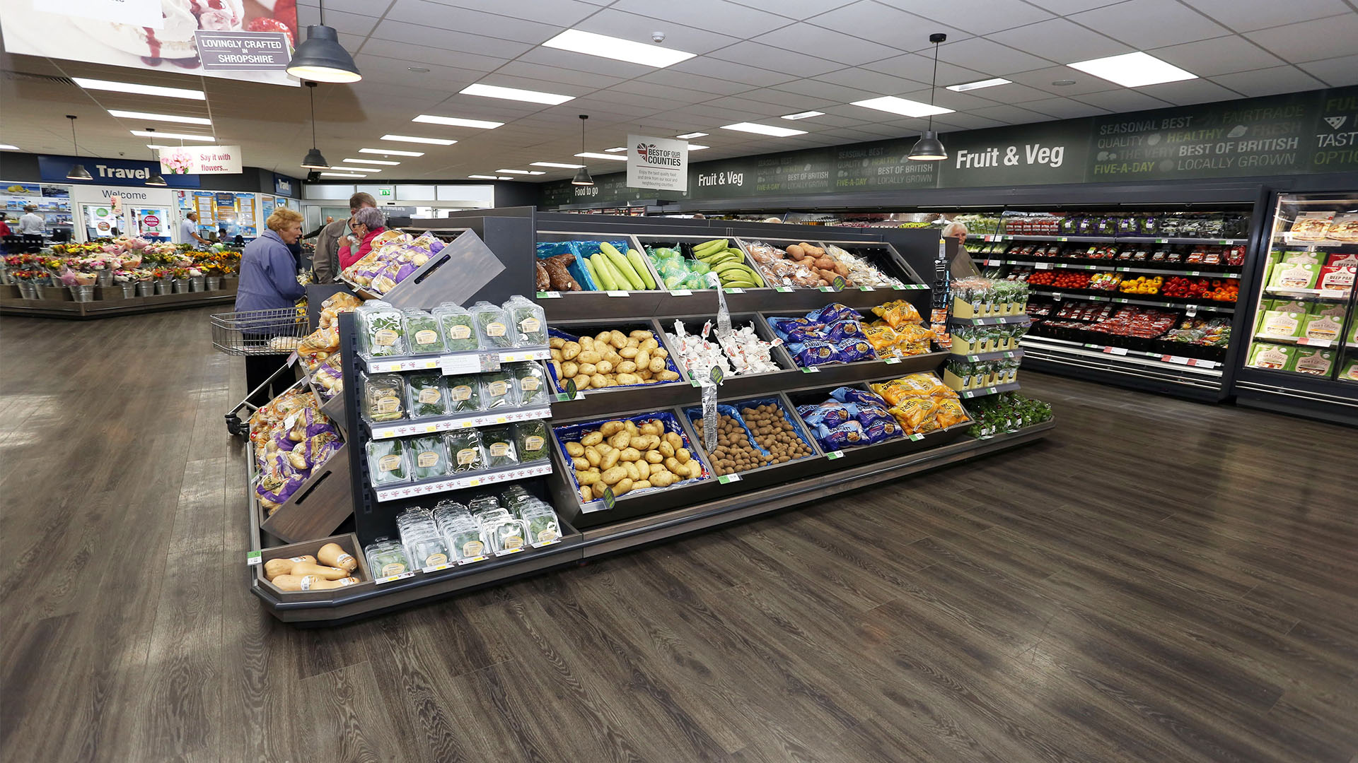Midcounties Co-operative Grocery Store Interior