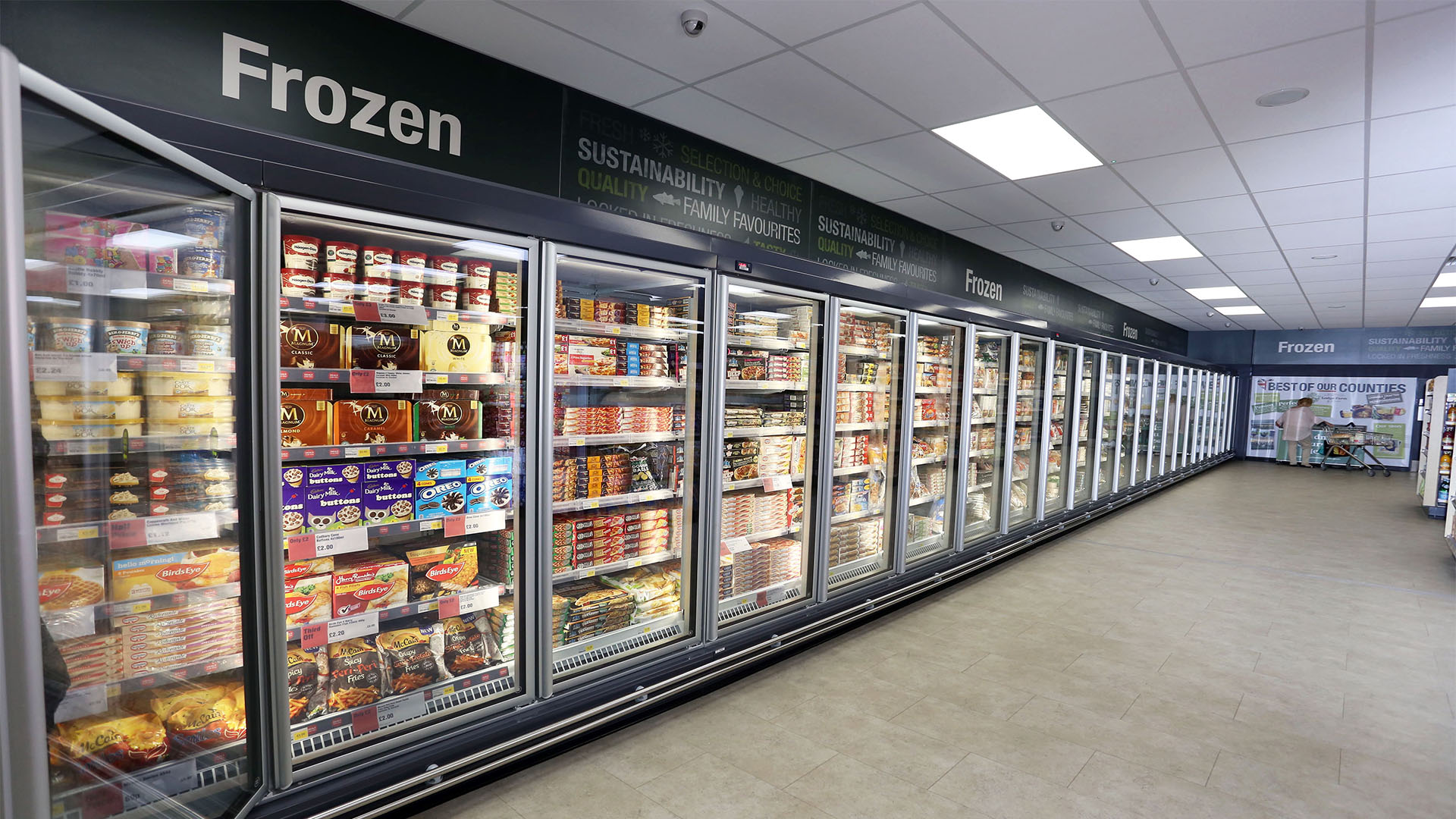 Midcounties Co-operative Frozen Aisle
