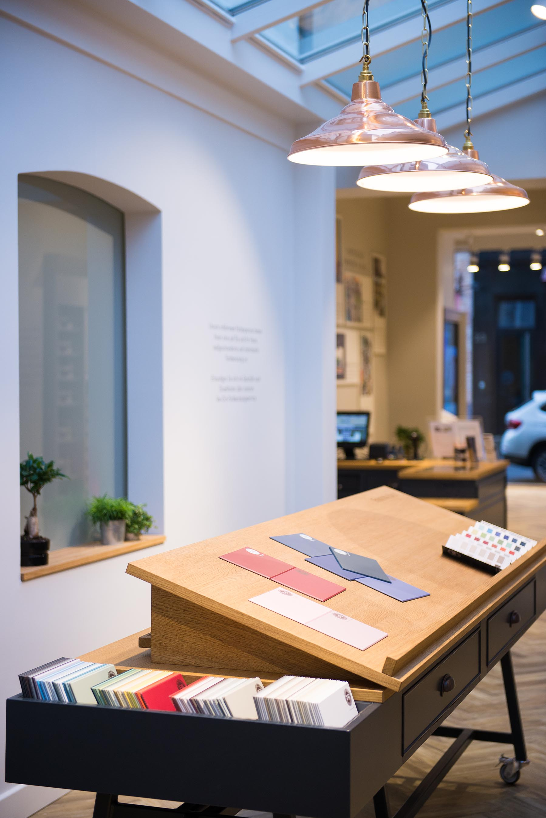 Paint Sample Desk at Farrow & Ball