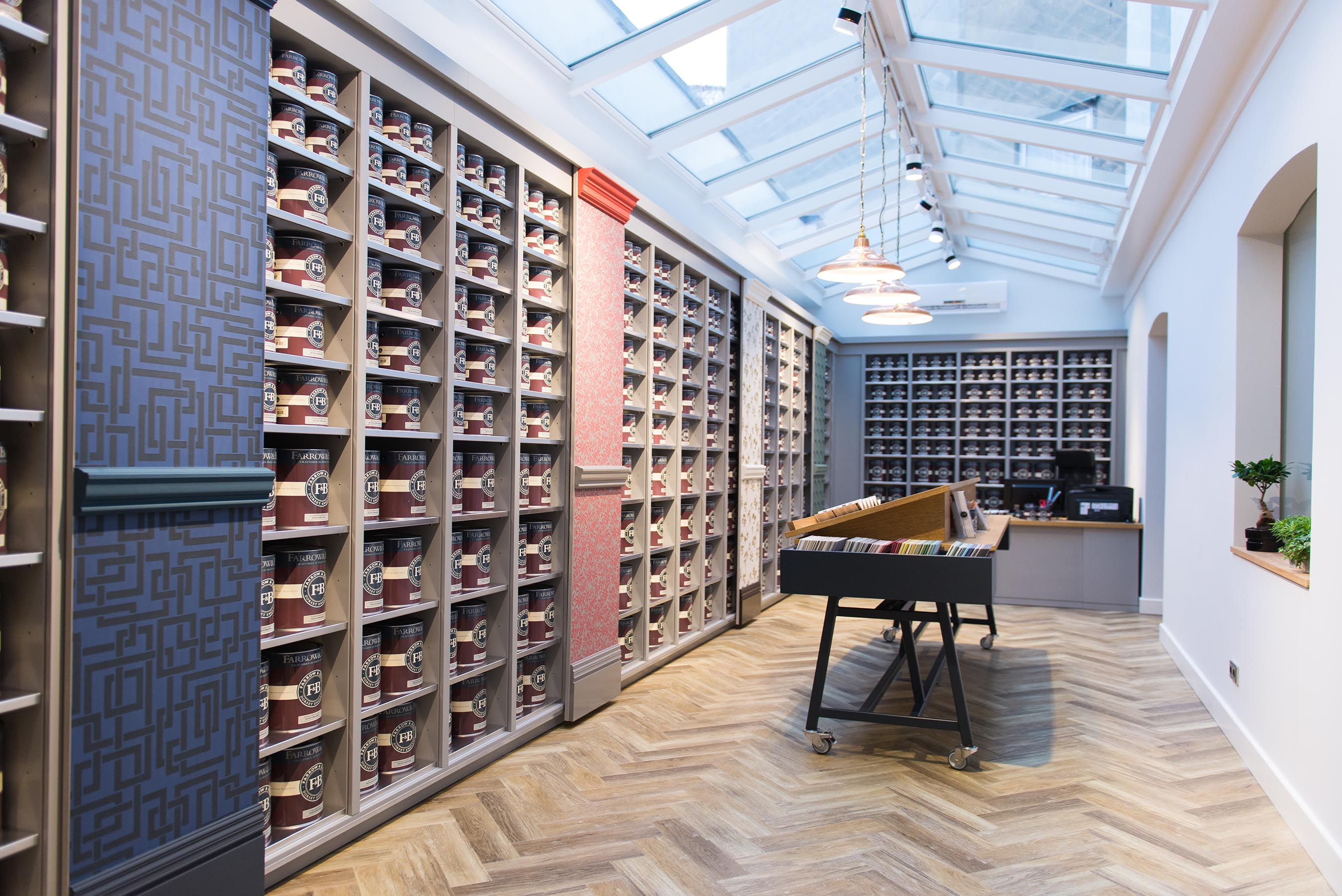 Farrow & Ball Germany retail interior