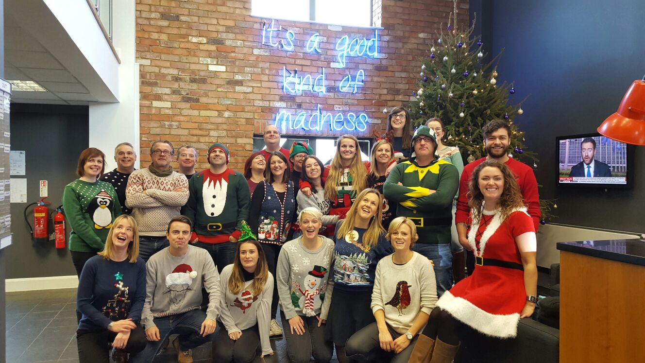 Resolution Interiors Staff In Christmas Jumpers