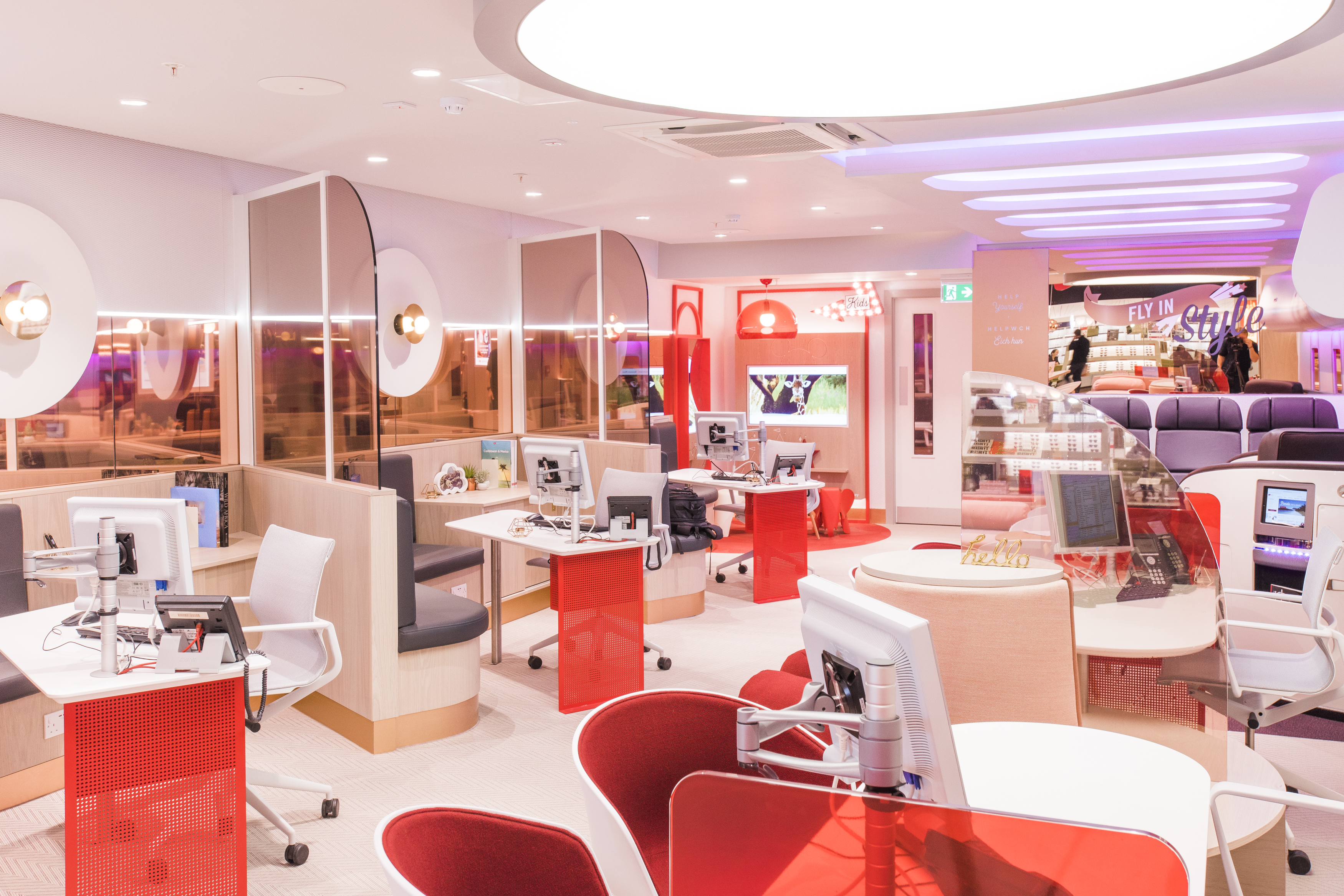 Virgin Holidays Cardiff Retail Interior
