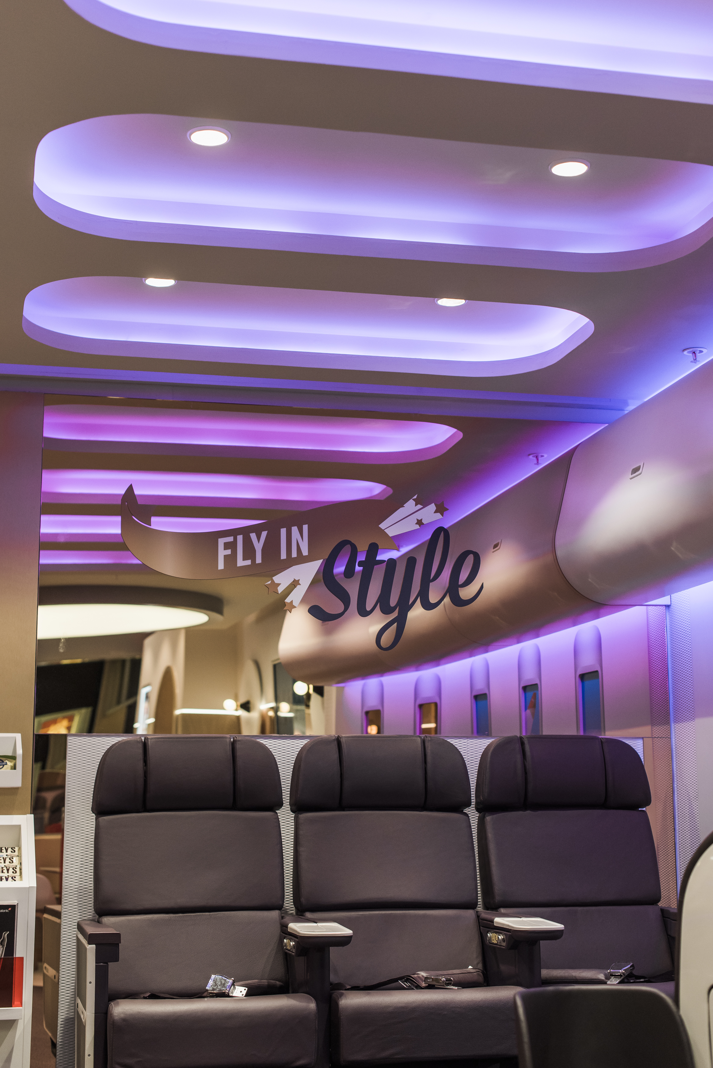Virgin Holidays Fly In Style Sign & Showroom