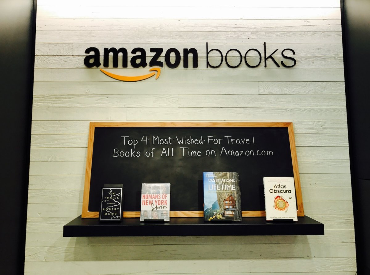 Amazon Books Retail Interior Display
