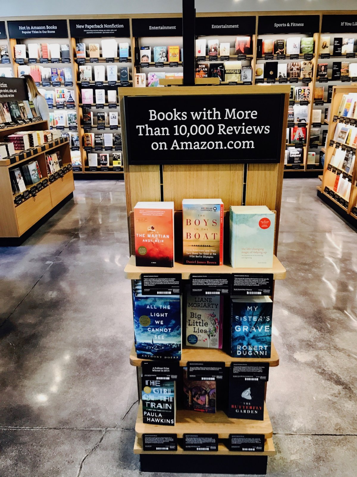 Amazon Retail Interior Book Display