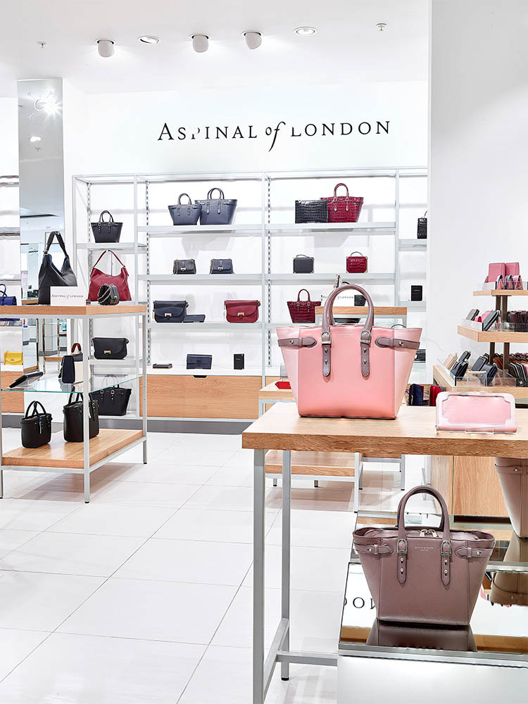 Aspinal Of London Handbag Display