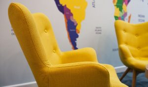 Coop travel yellow chair