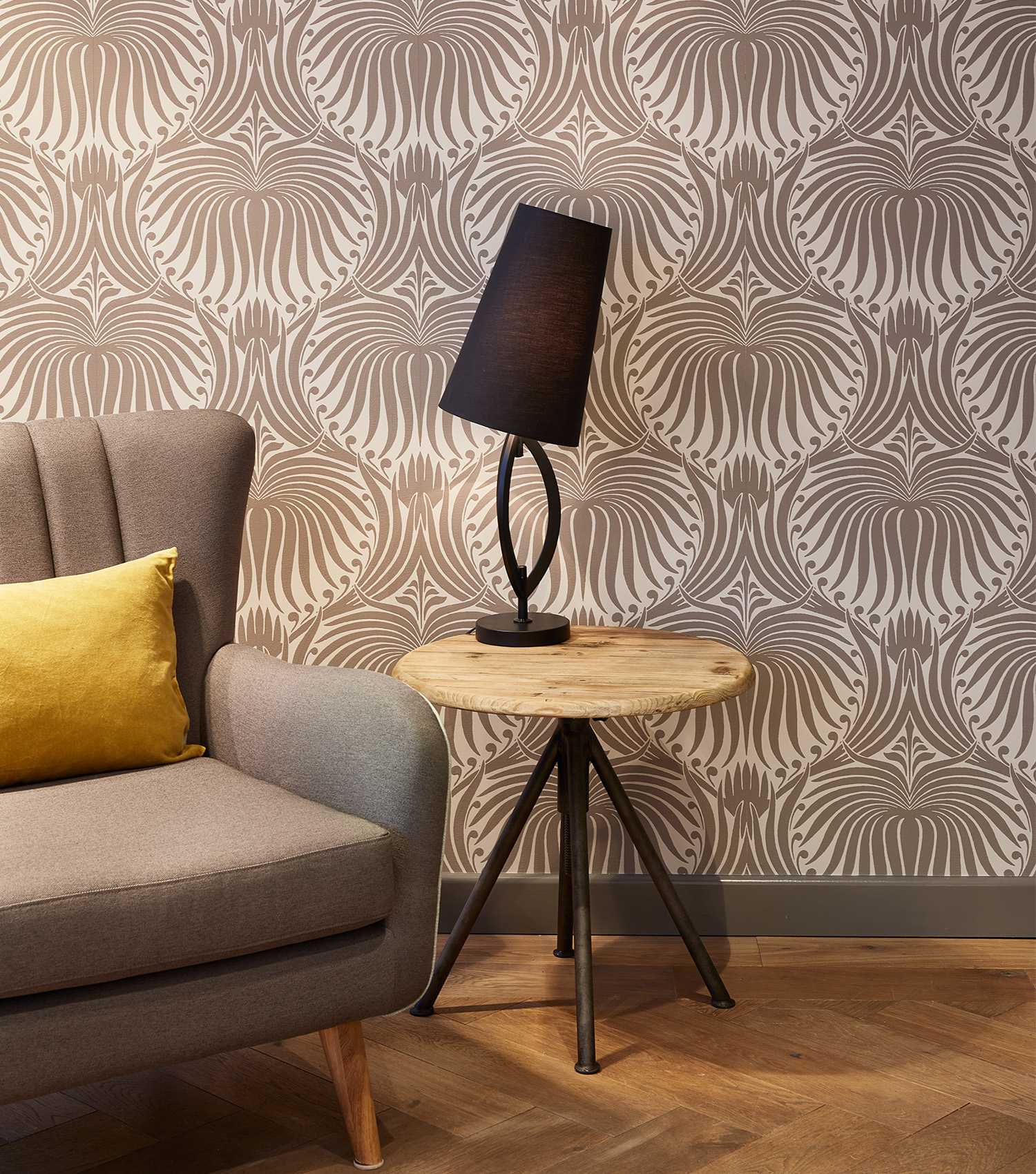 Farrow & Ball Lamp and decorative wall