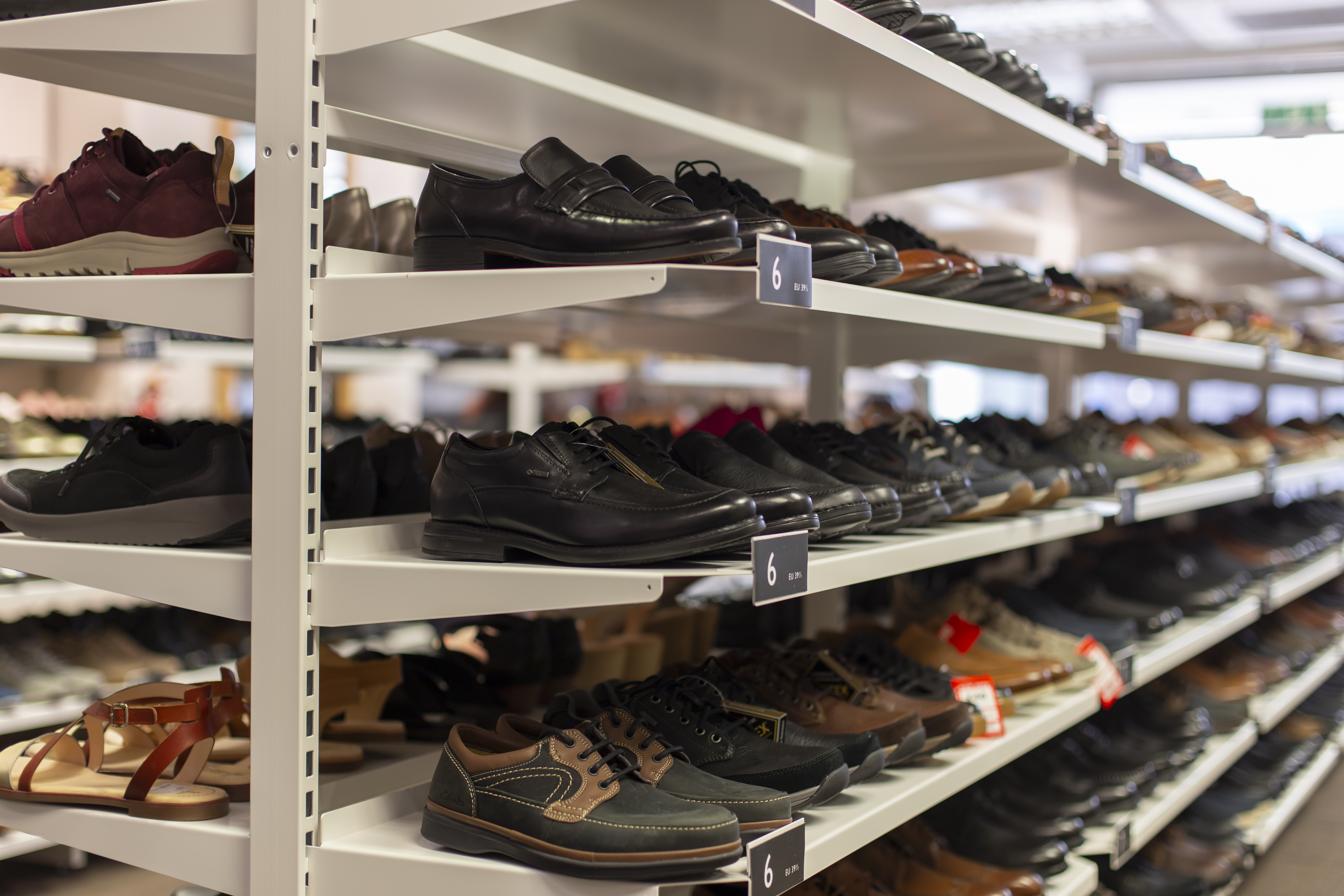 Clarks Shoes On Shelves